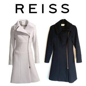 Reiss Adela Black Wool Jacket